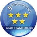 5 Star award by GearDownload