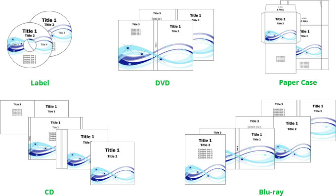 DVD cover maker templates