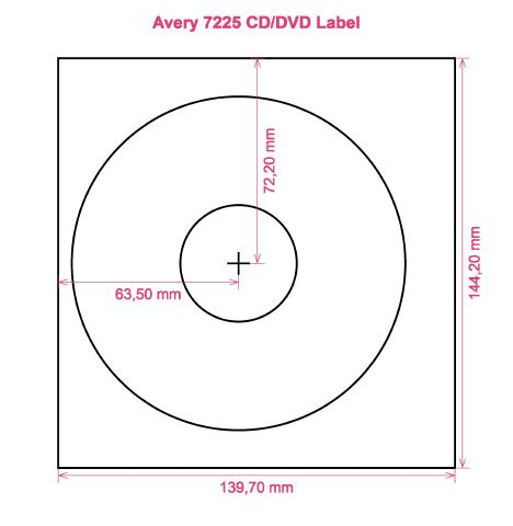 Avery 7225 CD DVD Label CD DVD labels, Avery 7225 CD DVD Label CD ...