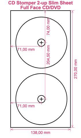 cd stomper 2 up slim sheet full face cd dvd cd dvd labels. Black Bedroom Furniture Sets. Home Design Ideas