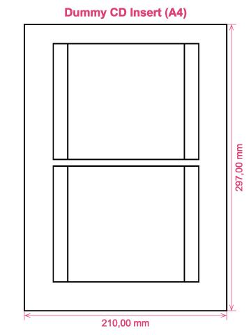 Dummy CD Insert (A4) label template layout