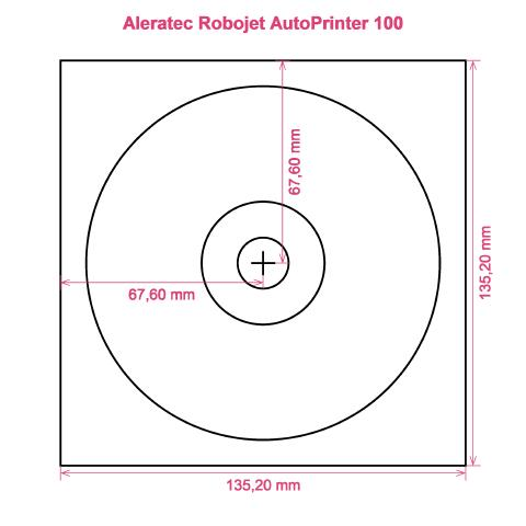 Aleratec Robojet AutoPrinter 100 printer CD DVD tray layout