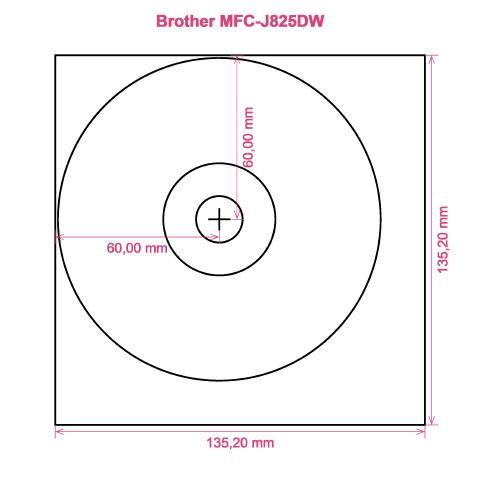 Brother MFC-J825DW printer CD DVD tray layout