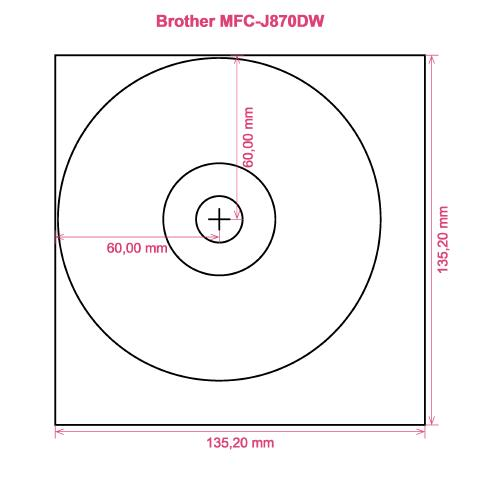 Brother MFC-J870DW printer CD DVD tray layout