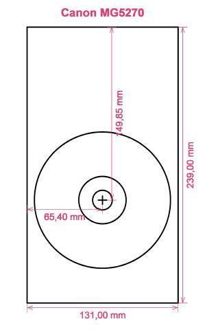 Canon MG5270 printer CD DVD tray layout