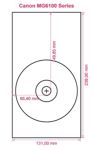 Canon MG6100 Series printer CD DVD tray layout