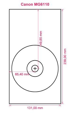 Canon MG6110 printer CD DVD tray layout
