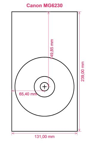 Canon MG6230 printer CD DVD tray layout