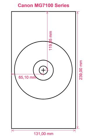 Canon MG7100 Series printer CD DVD tray layout