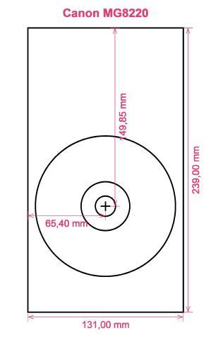 Canon MG8220 printer CD DVD tray layout