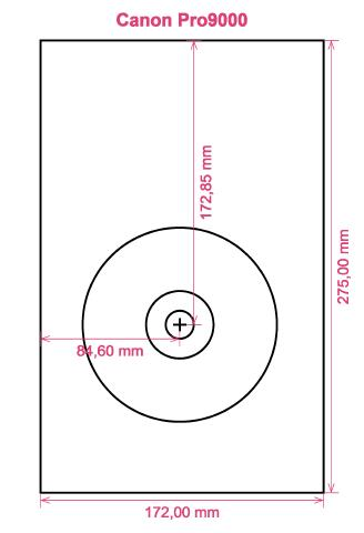 Canon Pro9000 printer CD DVD tray layout