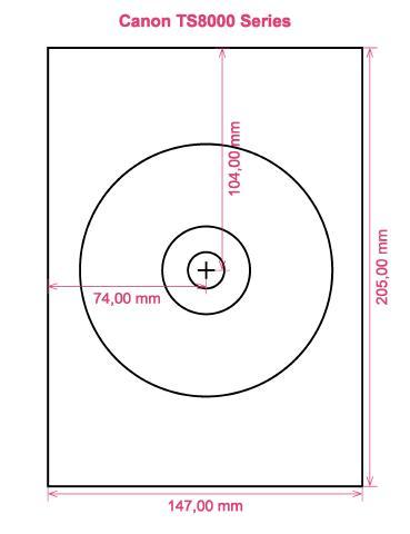 Canon TS8000 Series printer CD DVD tray layout