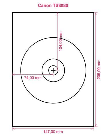 Canon TS8080 printer CD DVD tray layout