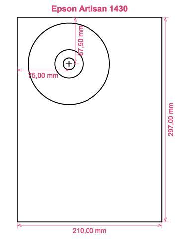 Epson Artisan 1430 printer CD DVD tray layout