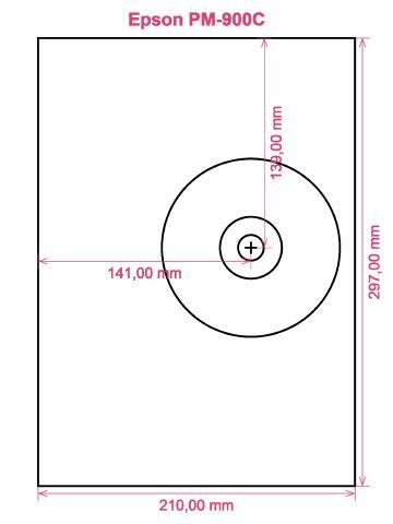 Epson PM-900C printer CD DVD tray layout