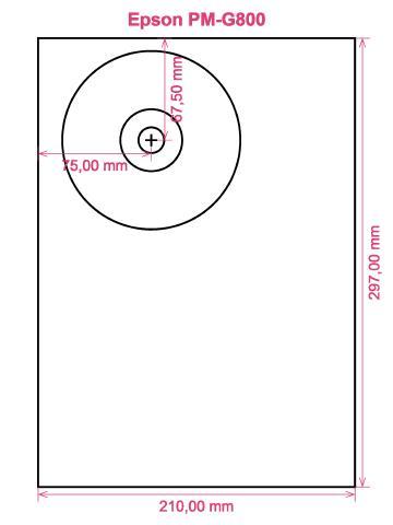 Epson PM-G800 printer CD DVD tray layout