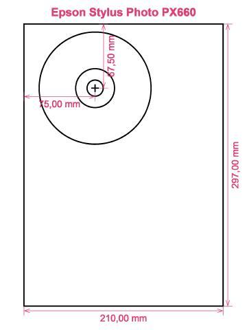 Epson Stylus Photo PX660 printer CD DVD tray layout
