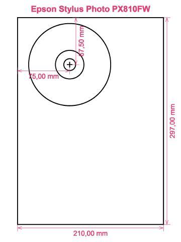 Epson Stylus Photo PX810FW printer CD DVD tray layout