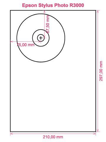 Epson Stylus Photo R3000 printer CD DVD tray layout