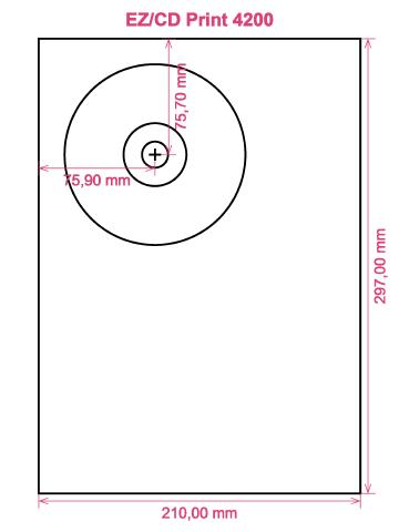 EZ CD Print 4200 printer CD DVD tray layout