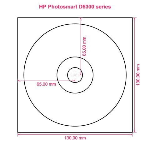 HP Photosmart D5300 series printer CD DVD tray layout