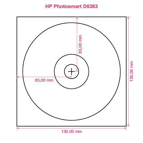 HP Photosmart D5363 printer CD DVD tray layout