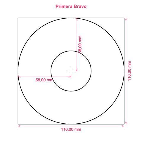 Primera Bravo printer CD DVD tray layout