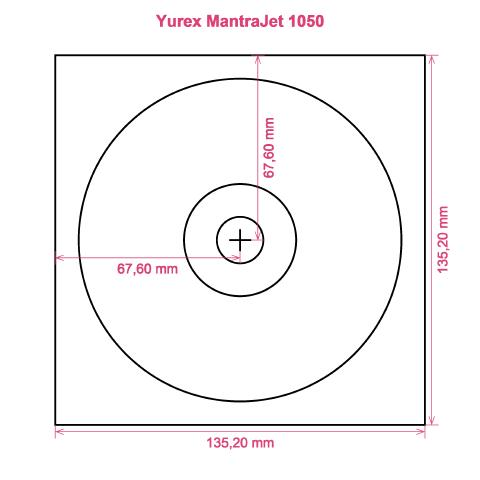 Yurex MantraJet 1050 printer CD DVD tray layout
