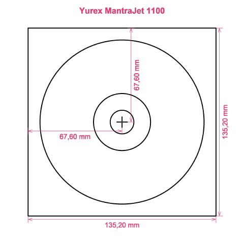 Yurex MantraJet 1100 printer CD DVD tray layout