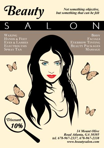 Beauty Saloon poster template, How to design a Beauty ...
