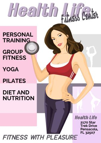 Fitness Centre poster template