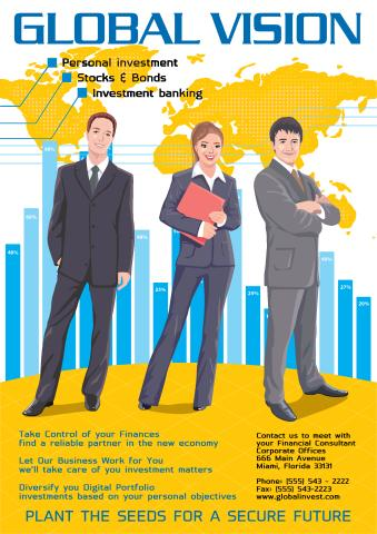 Investment Services poster template