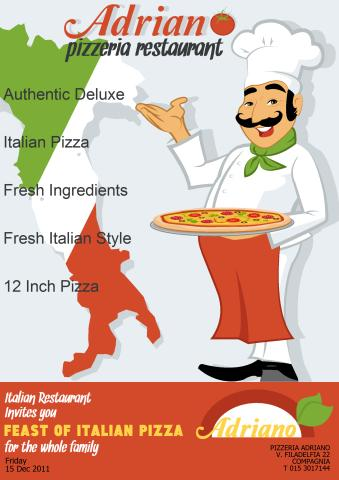 Pizzeria poster template