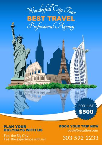 Travel Agency Poster Template How To Design A Travel