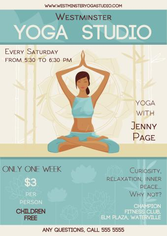 Yoga Studio poster template