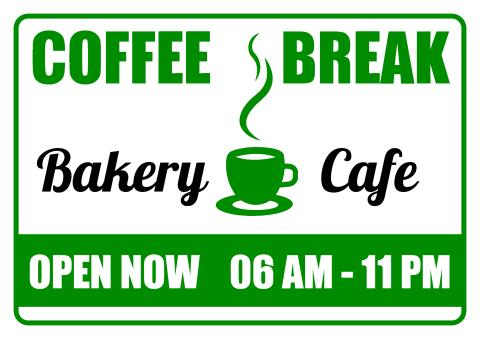 Bakery Cafe sign template