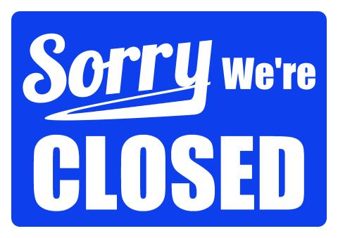 Closed Sign sign template