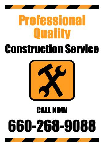 Construction Service sign template