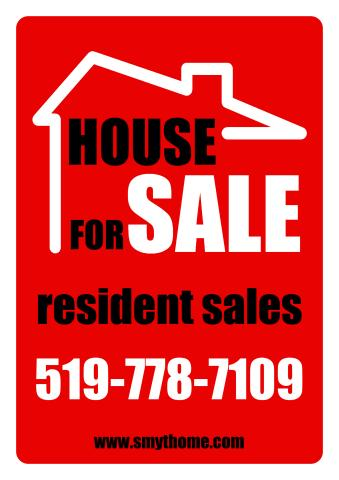 Estate for Sale sign template