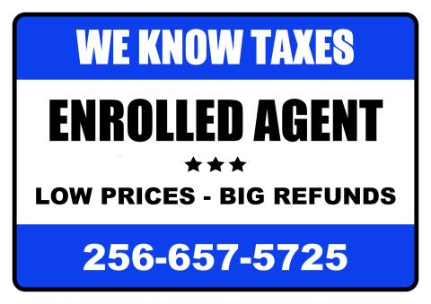 Tax Service sign template