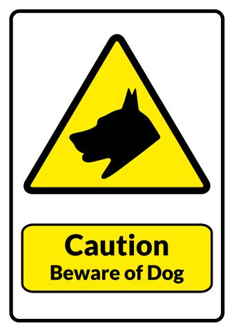 Beware of Dog sign template