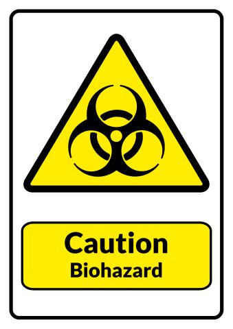 Biohazard sign template