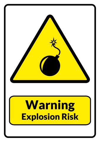 Explosion Risk sign template