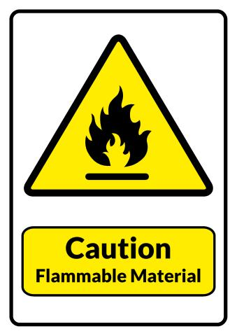 Flammable Material sign template
