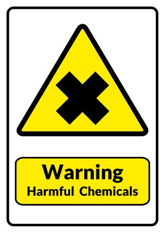 Harmful Chemicals sign template