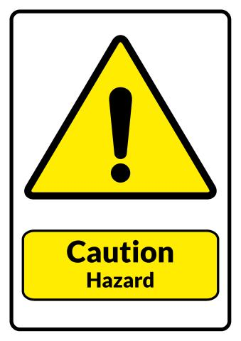 Hazard sign template
