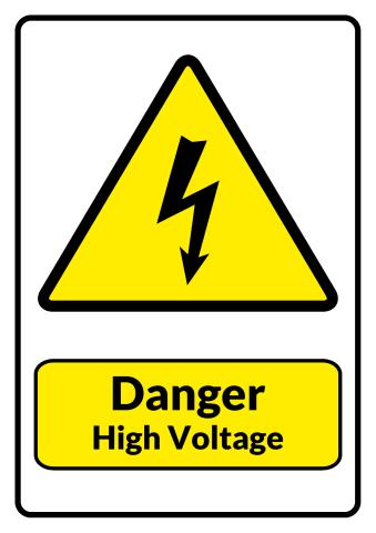 High Voltage sign template