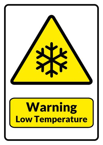 Low Temperature sign template