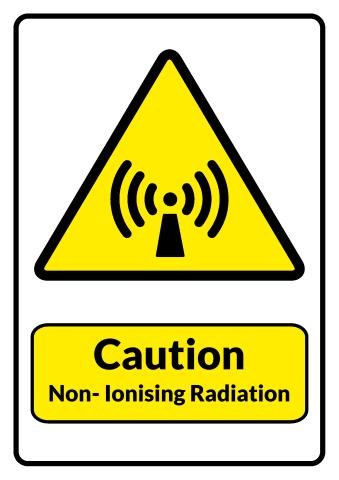 Non-Ionising Radiation sign template