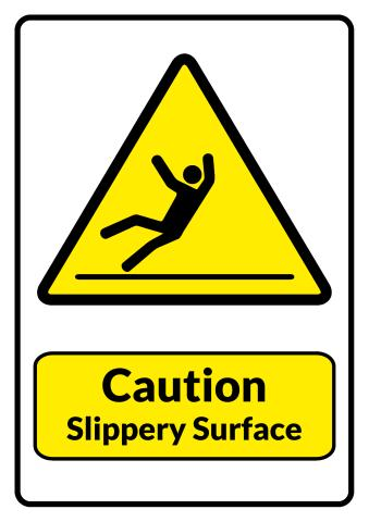 Slippery Surface sign template